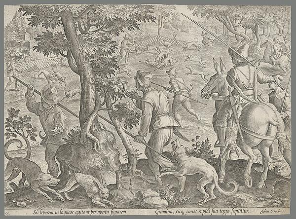Philip Galle, Jan van der Straet, Neznámy rytec - Lov na zajace (56)