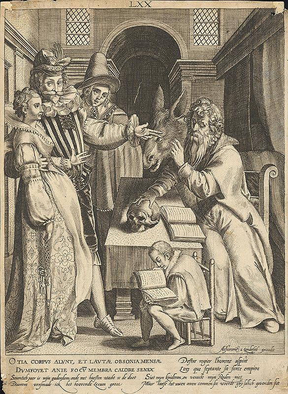 Assuerus van Londerseel, Nicolaes de Bruyn – Sedemdesiaty rok života / Rytier s manželkou pred učencom