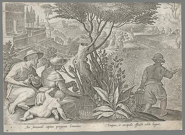 Philip Galle, Jan van der Straet – Poľovačka na vtákov