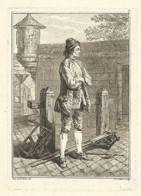 Jean Baptist Tillard, Augustin de Saint-Aubin – Parížsky uličník č.6