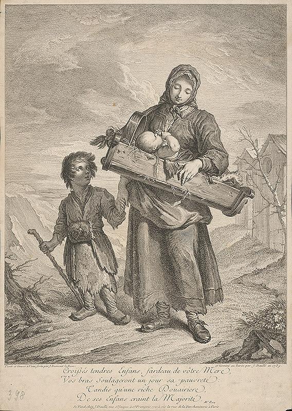 Jacques Dumont – Chudobná matka s deťmi