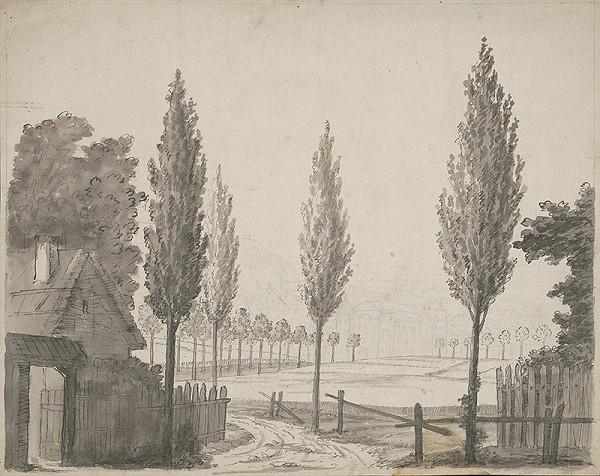 Stredoeurópsky grafik z 19. storočia - Pohľad na Petronell