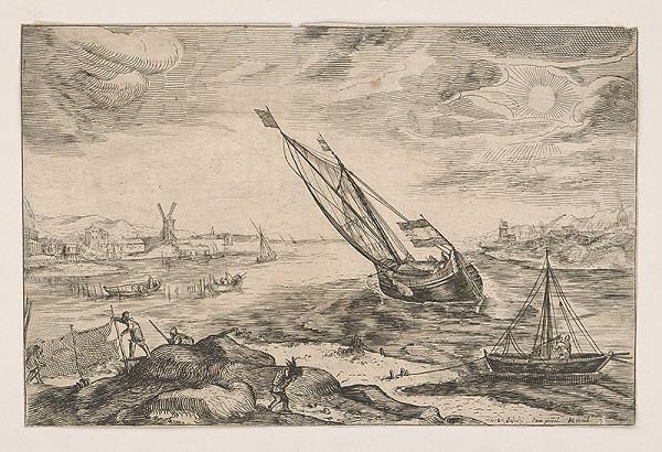 Stredoeurópsky grafik z 19. storočia – Rybársky prístav