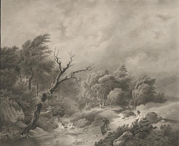 Stredoeurópsky grafik z 19. storočia - Búrka