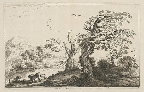 Guercino - Krajina s levmi