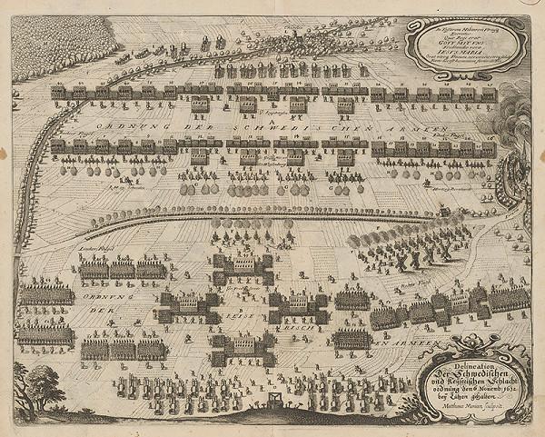 Matthäus Merian – Bitka medzi švédskou a nemeckou armádou