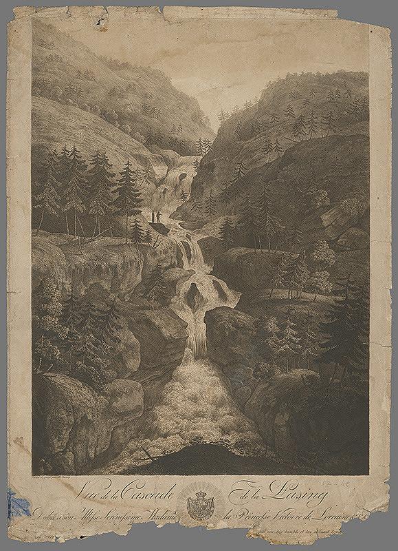 Stredoeurópsky grafik z 18. storočia – Vodopády