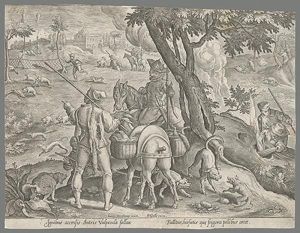 Philip Galle, Jan van der Straet, Neznámy rytec - Poľovačka na líšky (57)