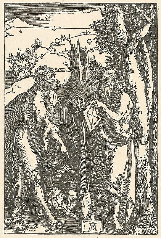 Albrecht Dürer – Sv. Ján Krstiteľ a Onufrius