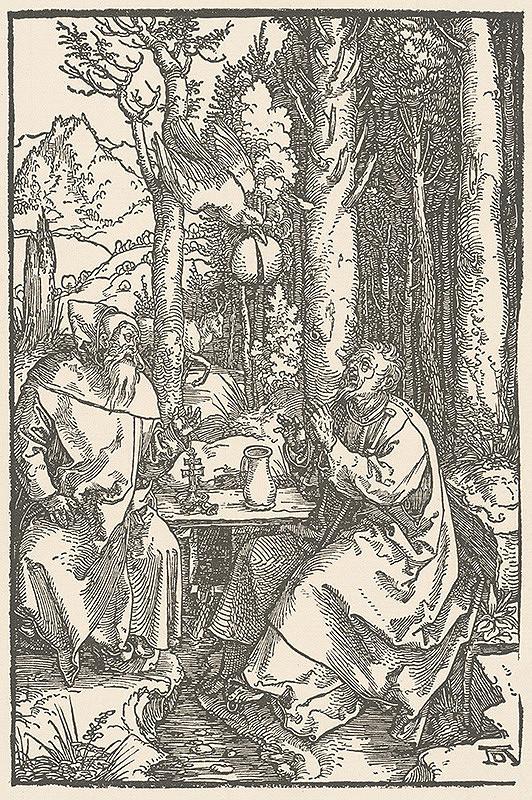 Albrecht Dürer – Sv. Anton a sv. Pavol