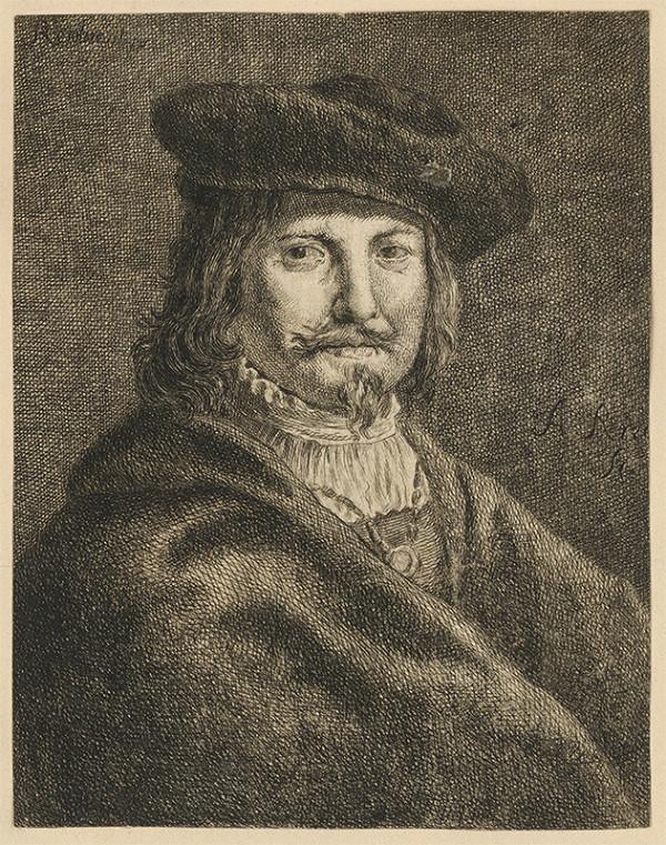 Stredoeurópsky grafik z 18. storočia - Podobizeň Rembrandta