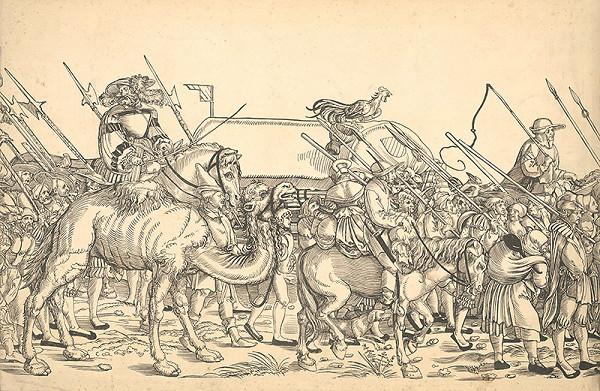 Stredoeurópsky grafik zo 16. storočia - Triumfálny pochod cisára Maximiliána