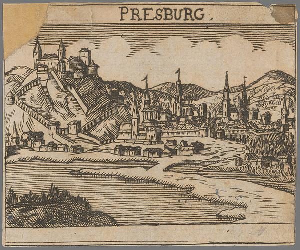 Stredoeurópsky grafik zo 17. storočia - Pohľad na Bratislavu