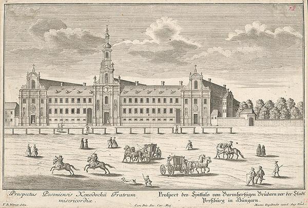 Friedrich Bernhard Werner, Martin Engelbrecht – Nemocnica a kostol Milosrdných bratov v Bratislave