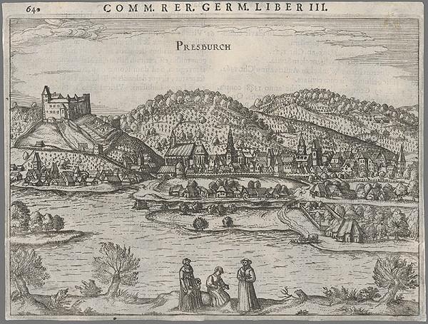 Franz Hoogenberg, Joris Hoefnagel - Bratislava pohľad z juhu