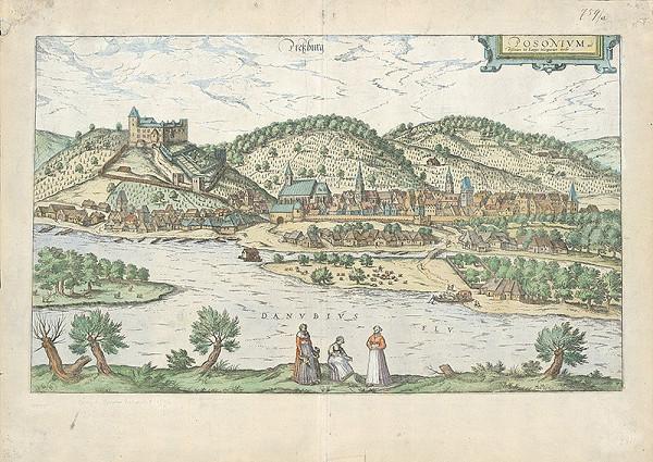 Franz Hogenberg, Stredoeurópsky autor - Pohľad na Bratislavu z juhu