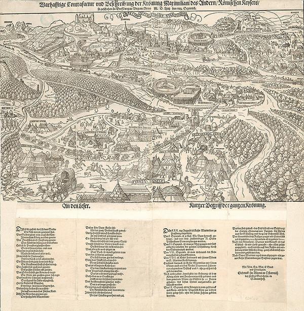 Hans Meyer, Caspar Steinhofer – Pohľad na Bratislavu pri príležitosti korunovácie kráľa Maximiliána v roku 1563