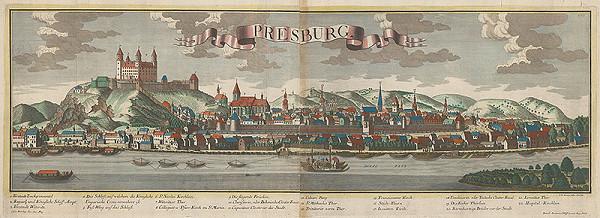 Georg Balthasar Probst, Friedrich Bernhard Werner – Bratislava z juhu