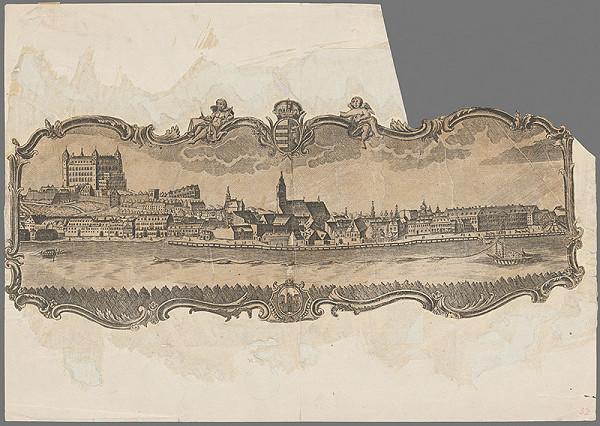 Stredoeurópsky grafik z 18. storočia – Bratislava - pohľad z juhu