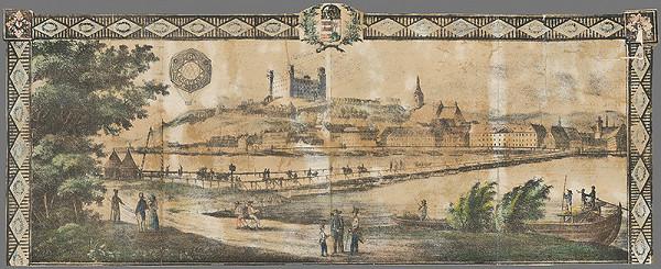 Stredoeurópsky grafik z 1. polovice 19. storočia - Hlavička listu