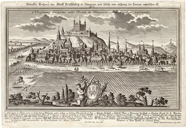 Friedrich Bernhard Werner, Martin Engelbrecht – Pohľad na Bratislavu z východu