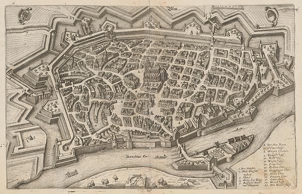 Kaspar Merian - Pohľad na mesto Ulm