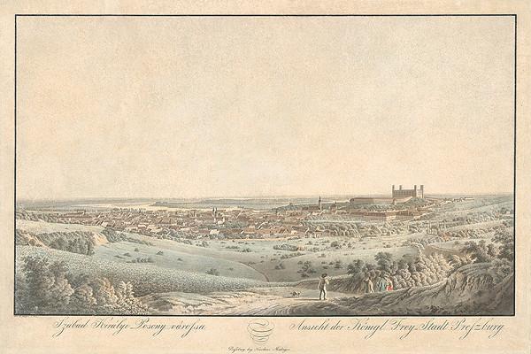 Jozef Anton Lántz – Pohľad na Bratislavu zo severu