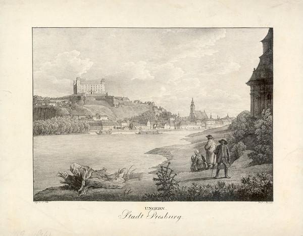 Jakob Alt, Adolf Friedrich Kunike – Bratislava v 19. storočí - pohľad z juhozápadu