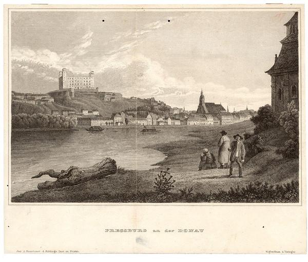 Stredoeurópsky grafik z 19. storočia, Jakob Alt – Bratislava v 19. storočí - pohľad z juhozápadu