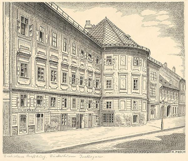 Karol Frech - Pekárska veža, Goeteho (dnešná Gorkého) ulica