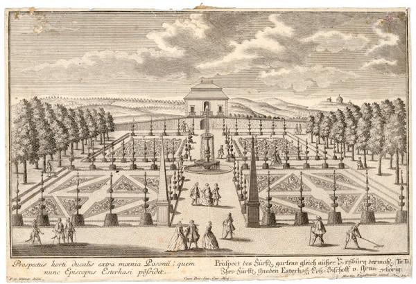Friedrich Bernhard Werner, Martin Engelbrecht – Záhrada a letné sídlo arcibiskupa Esterházyho