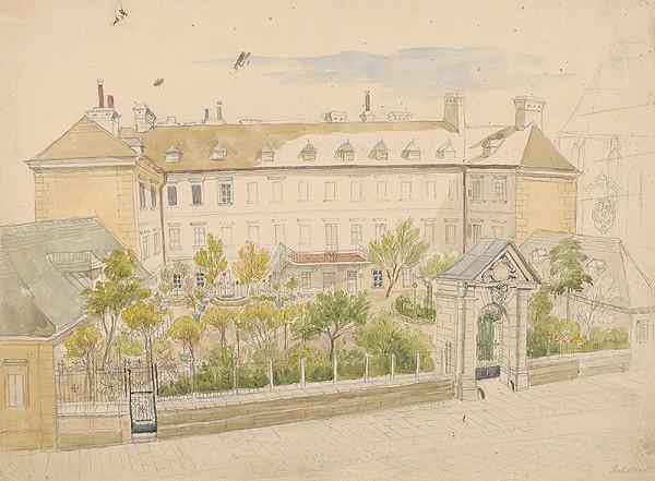 Stredoeurópsky grafik z 19. storočia – Budova prepoštstva na Kapitulskej ulici v Bratislave