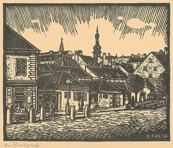 Karol Frech - Chlebové námestie v Bratislave