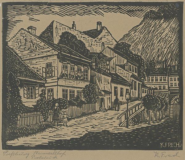 Karol Frech - Stará bratislavská ulica Steinwellhof