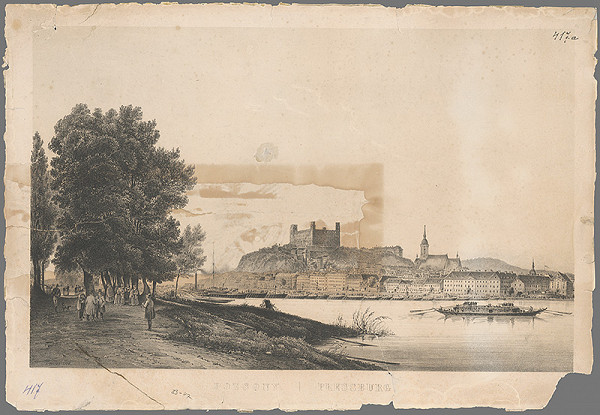 F. Weiss – Pohľad na Bratislavu v 19. storočí