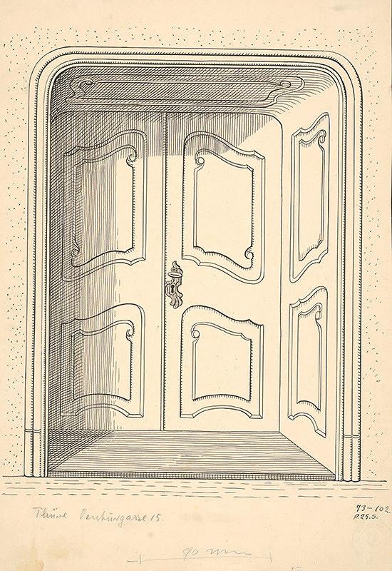 Karol Frech – Dvere na dome Ventúrskej ulice č.15 v Bratislave