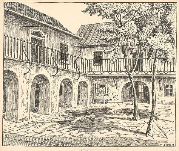 Karol Frech – Dvor na Zukermandli v Bratislave