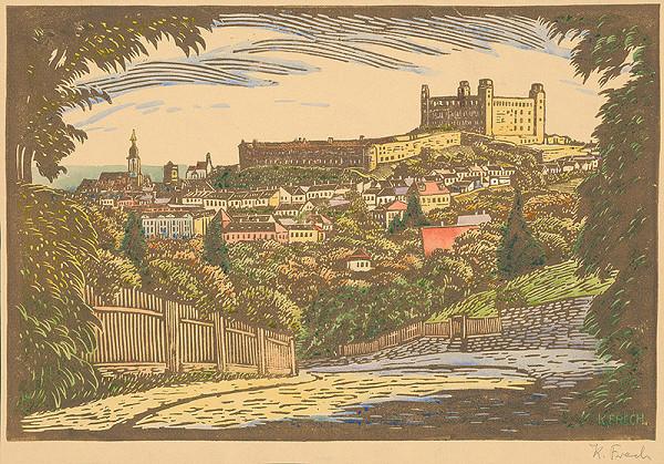 Karol Frech - Pohľad na Bratislavu zo severu