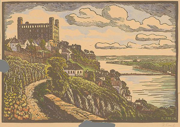 Karol Frech – Bratislavský hrad v 20. storočí - pohľad zo západu