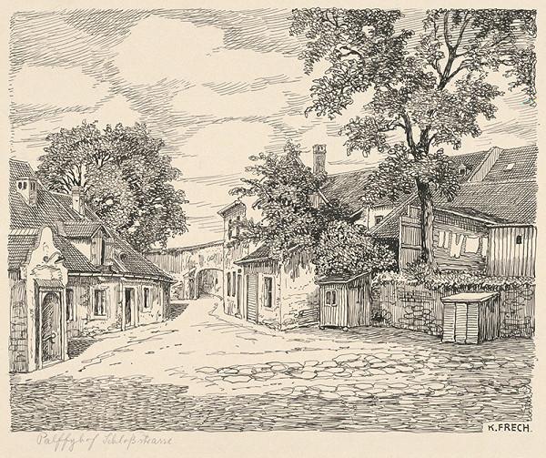 Karol Frech - Pálffyho dvor na Zámockej ulici v Bratislave