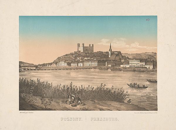 Stredoeurópsky grafik z polovice 19. storočia - Bratislava z juhu