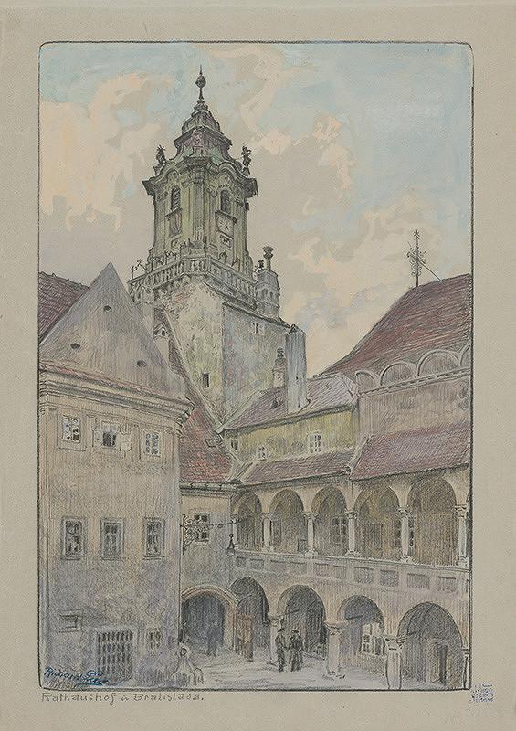 Richard Lux - Radničné nádvorie v Bratislave