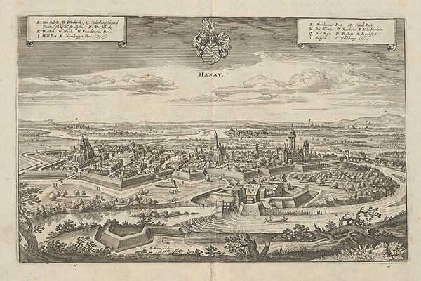 Matthäus Merian – Opevnenie mesta Hanau