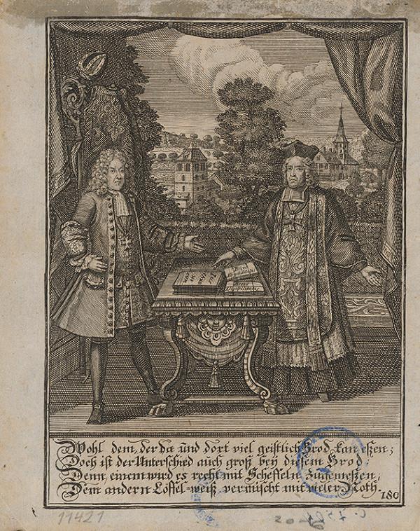 Stredoeurópsky grafik z 1. polovice 19. storočia – Jurista a kňaz