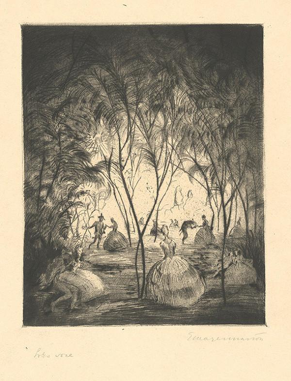 Stredoeurópsky grafik z 1. polovice 19. storočia – Lotto voce