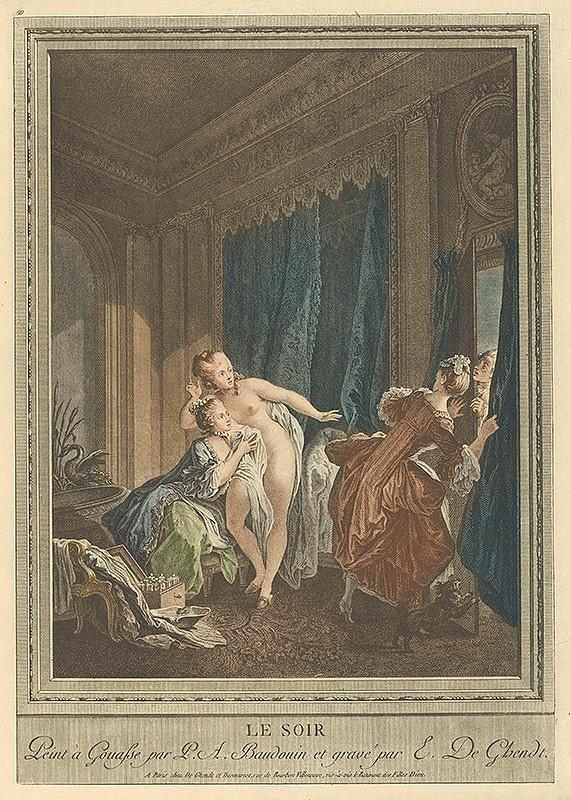 Emmanuel Jean Nepomucene de Ghendt, Pierre-Antoine Baudouin – Večer
