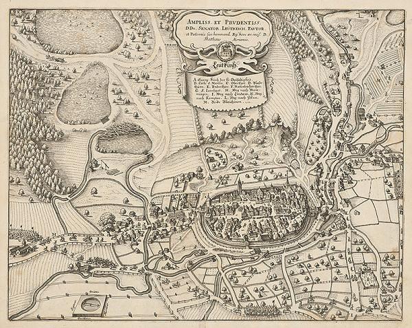 Matthäus Merian – Opevnenie mesta Leutkircha