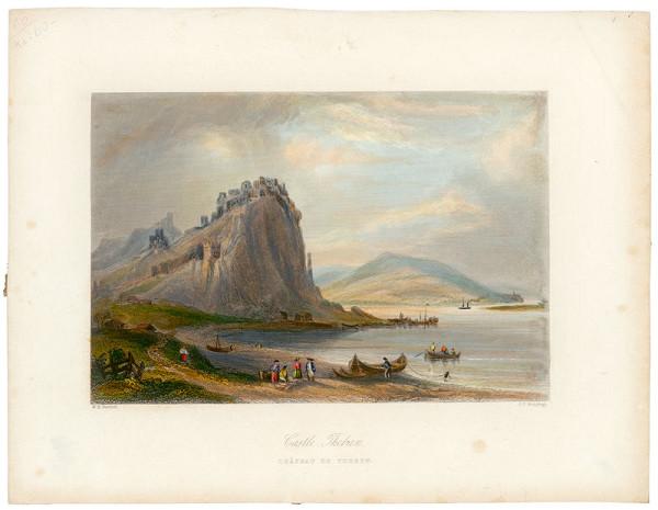 William Henry Bartlett, James Charles Armytage - Hrad Devín v 19. stor.