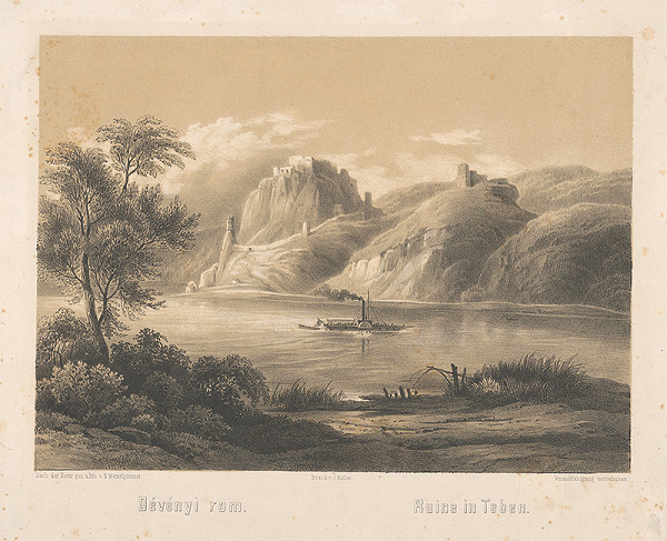 N. Weixelgärtner - Pohľad na ruiny Devína