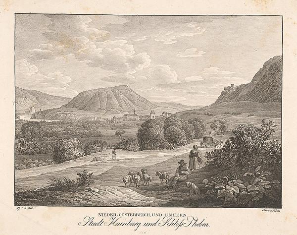 Jakob Alt – Pohľad na Devín z Hainburgu